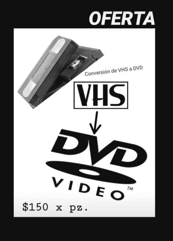 Conversión de vhs a dvd en puebla.